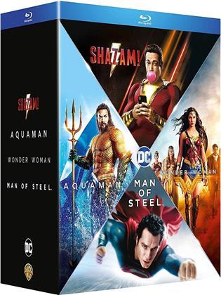 Shazam! / Aquaman / Wonder Woman / Man of Steel (4 Blu-rays)