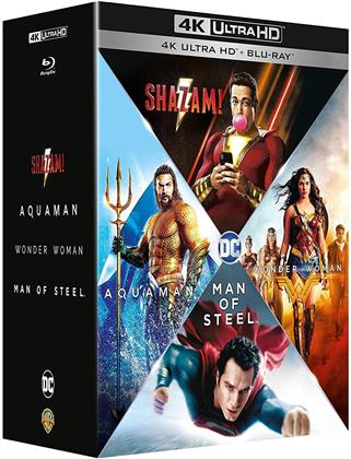 Shazam! / Aquaman / Wonder Woman / Man of Steel (4 4K Ultra HDs + 4 Blu-rays)