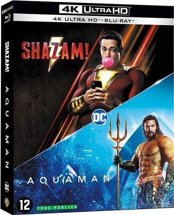 Shazam! (2019) / Aquaman (2018) (2 4K Ultra HDs + 2 Blu-rays)
