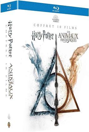 Harry Potter / Les animaux fantastiques - Wizard World - Coffret 10 Films (13 Blu-rays)