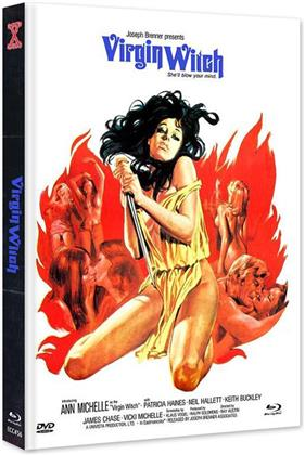 Virgin Witch (1972) (Cover B, Limited Edition, Mediabook, Uncut, Blu-ray + DVD)