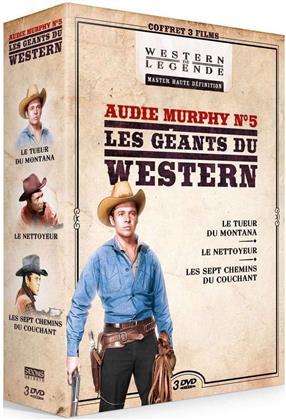 Audie Murphy N°5 - Les géants du Western - Le tueur du Montana / Le nettoyeur / Les sept chemins du couchant (3 DVDs)