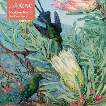 Marianne North: Kew Gardens - Honeyflowers and Honeysuckers - 1000 Piece Adult Jigsaw Puzzle