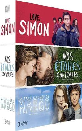 Love, Simon / Nos étoiles contraires / La face cachée de Margo (3 DVDs)