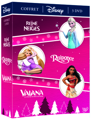 La Reine des Neiges / Raiponce / Vaiana (3 DVDs)