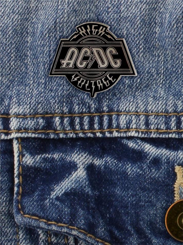 AC/DC High Voltage Enamel Pin Badge