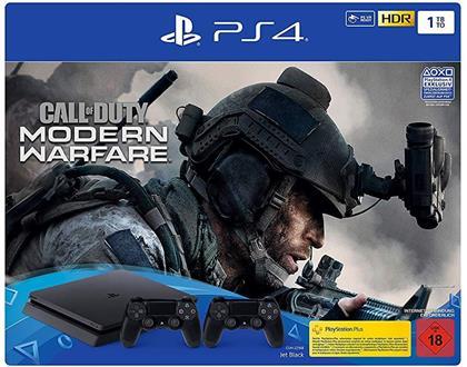 Sony Playstation 4 1TB SLIM + Call of Duty Modern Warfare 2019 + 2. Controller