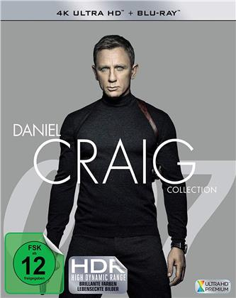 James Bond - Daniel Craig Collection - Casino Royale / Ein Quantum Trost / Skyfall / Spectre (4 4K Ultra HDs + 4 Blu-rays)