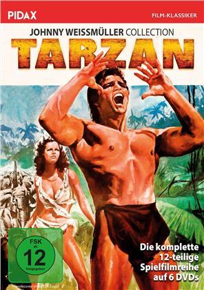 Tarzan - Die komplette 12-teilige Spielfilmreihe (Johnny Weissmüller Collection, Pidax Film-Klassiker, s/w, 6 DVDs)