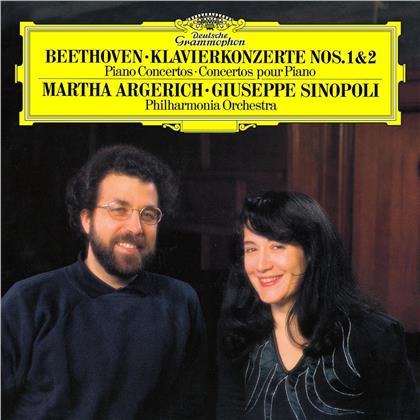Ludwig van Beethoven (1770-1827), Giuseppe Sinopoli & Martha Argerich - Beethoven: Piano Concertos 1 & 2 (2 LPs)