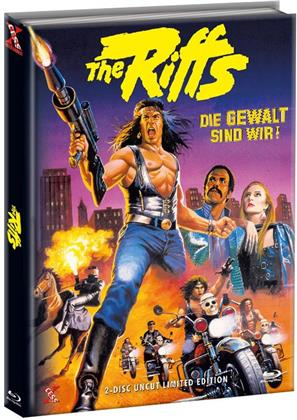 The Riffs 1 - Die Gewalt sind wir! (1982) (Cover B, Limited Edition, Mediabook, Uncut, Blu-ray + DVD)