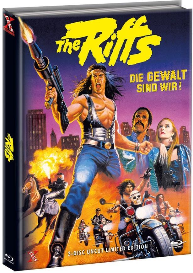 The Riffs 1 - Die Gewalt sind wir! (1982) (Cover B, Limited Edition, Mediabook, Uncut, Blu-ray + DVD)
