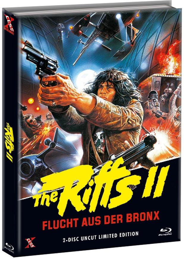 The Riffs 2 - Flucht aus der Bronx (1983) (Cover B, Limited Edition, Mediabook, Uncut, Blu-ray + DVD)