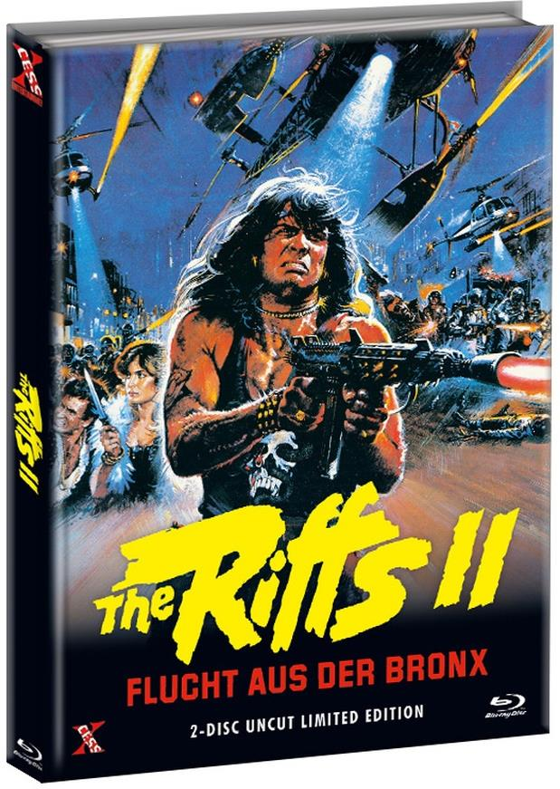 The Riffs 2 - Flucht aus der Bronx (1983) (Cover C, Limited Edition, Mediabook, Uncut, Blu-ray + DVD)