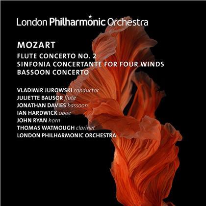 Wolfgang Amadeus Mozart (1756-1791), Vladimir Jurowski (1915-1972), Juliette Bausor, Ian Hardwick, Thomas Watmough, … - Wind Concertos