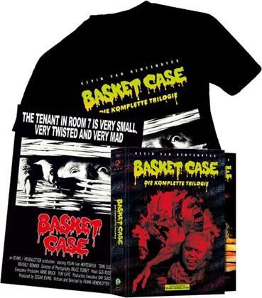 Basket Case 1-3 - Die komplette Trilogie (Schuber, + Poster, + T-Shirt, Edizione Limitata, Mediabook, 4 Blu-ray + 4 DVD)