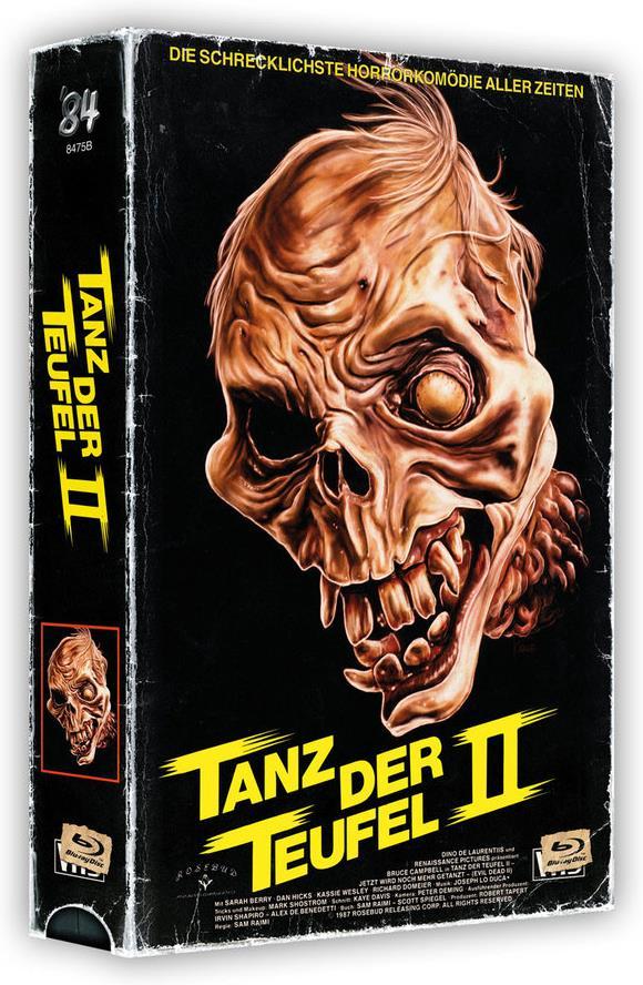 Tanz der Teufel 2 (1987) (VHS Box, + Poster, Cover B, Edizione Limitata, Uncut, 4K Ultra HD + 2 Blu-ray)