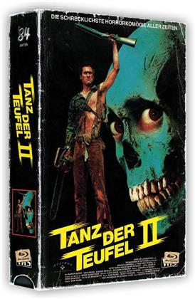 Tanz der Teufel 2 (1987) (VHS Box, + Poster, Cover A, Edizione Limitata, Uncut, 4K Ultra HD + 2 Blu-ray)