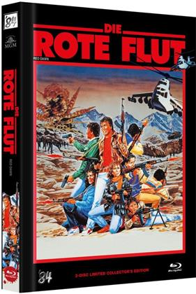 Die Rote Flut (1984) (Cover C, Collector's Edition Limitata, Mediabook, Uncut, Blu-ray + DVD)