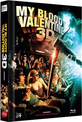 My Bloody Valentine 3D (2009) (Cover C, Limited Collector's Edition, Mediabook, Uncut, Blu-ray 3D (+2D) + DVD)