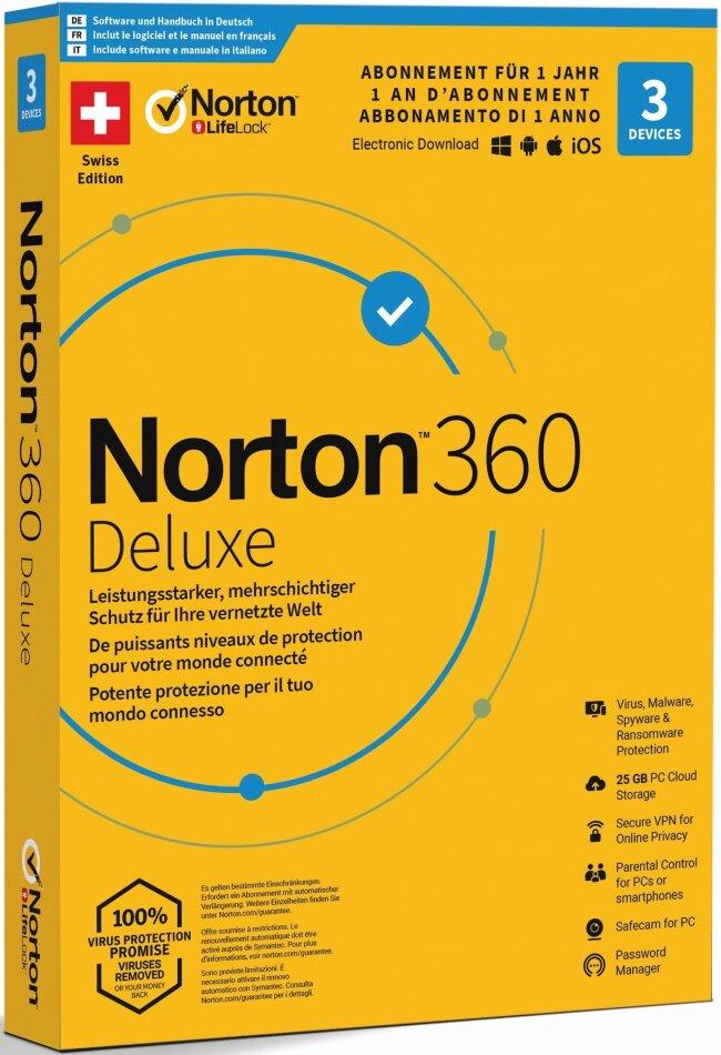 Norton Security 360 Deluxe 25GB 1 User 3 PC [PC/Mac/Android/iOS]