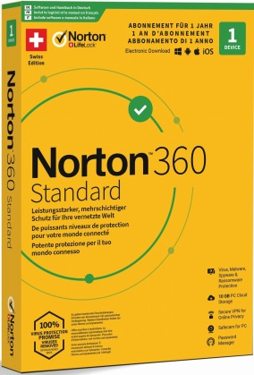 Norton Security 360 Standard 10GB 1 User 1 PC [PC/Mac/Android/iOS]