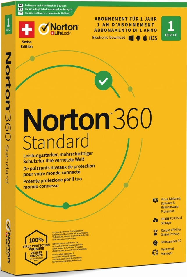 Norton Security 360 Standard 10GB 1 User 1 PC [PC/Mac/Android/iOS]