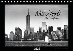NEW YORK - the skyline (Tischkalender 2020 DIN A5 quer)