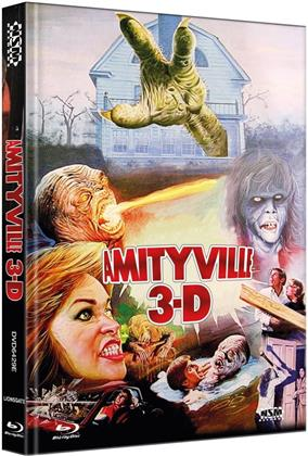 Amityville 3-D (1983) (Cover E, Limited Collector's Edition, Mediabook, Blu-ray + DVD)