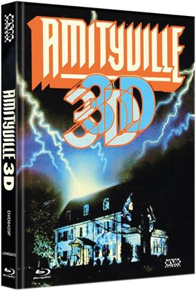 Amityville 3D (1983) (Cover F, Limited Collector's Edition, Mediabook, Blu-ray + DVD)