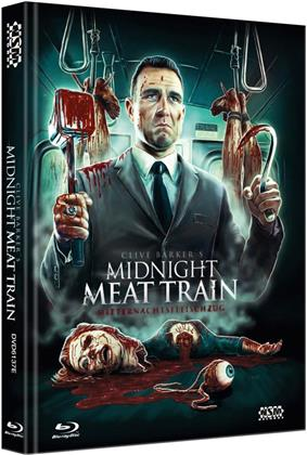 Midnight Meat Train (2008) (Cover E, Collector's Edition Limitata, Mediabook, Uncut, Blu-ray + DVD)