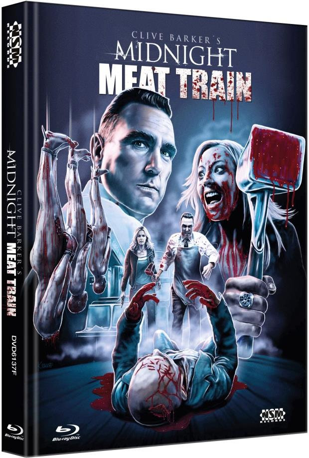 Midnight Meat Train (2008) (Cover F, Limited Collector's Edition, Mediabook, Uncut, Blu-ray + DVD)