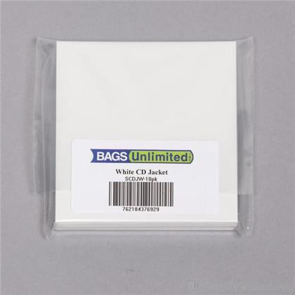 Bu SCDJw10pk Wht Cardboard Cd Jacket 10 Pack