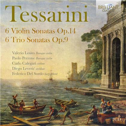 Various, Carlo Tessarini (c.1690-after December 1766), Valerio Losito, Paolo Perrone, Carlo Calegari, … - 6 Violin Sonatas / 6 Trio Sonatas (2 CDs)