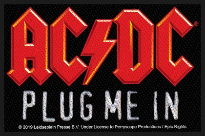 AC/DC Standard Patch - Plug Me In (Loose)