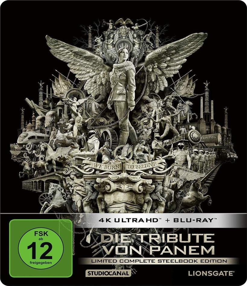 Die Tribute von Panem - Complete Collection (Limited Edition, Steelbook, 4 4K Ultra HDs + 4 Blu-rays)