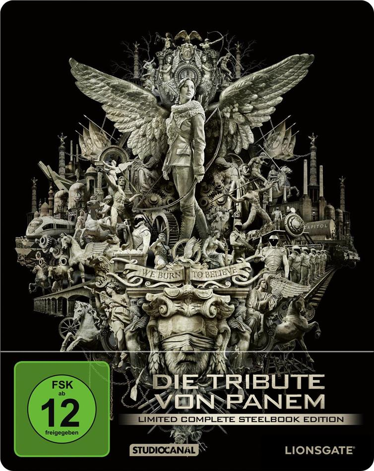 Die Tribute von Panem - Complete Collection (Limited Edition, Steelbook, 4 Blu-rays)