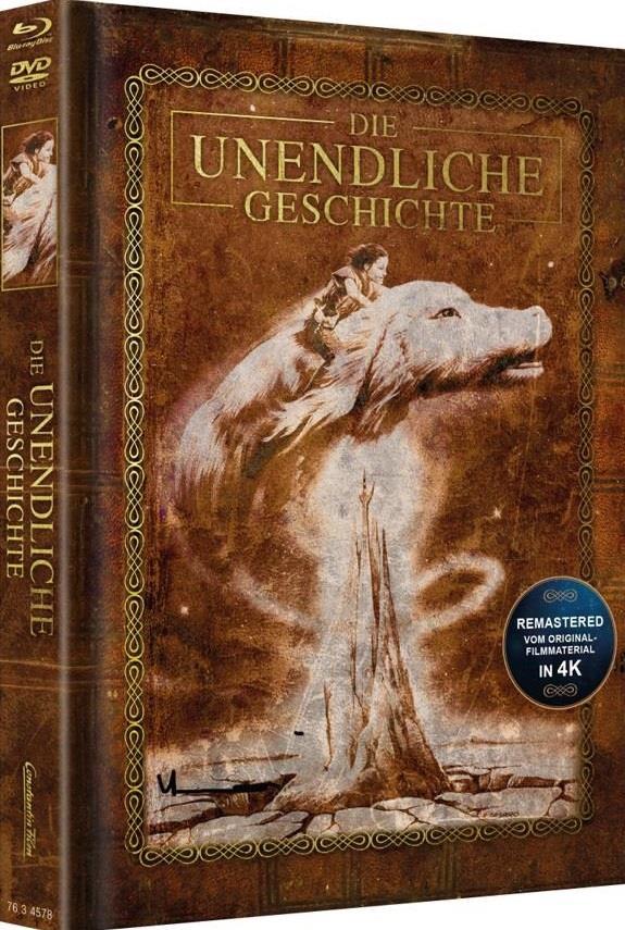 Die unendliche Geschichte (1984) (Cover Braun, Limited Edition, Mediabook, Remastered, Blu-ray + DVD)