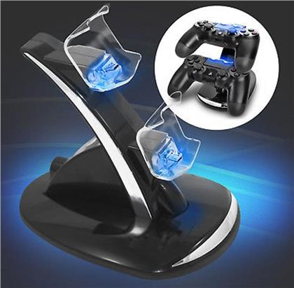PS4 Ladestation für 2 Controller EAXUS USB Dual Charger