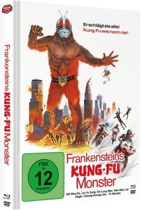 Frankensteins Kung-Fu Monster (1975) (Cover A, Limited Edition, Mediabook, Blu-ray + DVD)