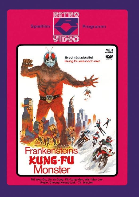 Frankensteins Kung-Fu Monster (1975) (Cover C, Limited Edition, Mediabook, Blu-ray + DVD)