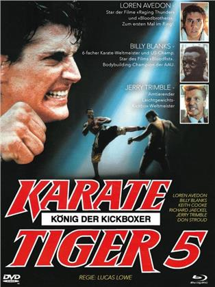 Karate Tiger 5 - König der Kickboxer (1990) (Cover B, Limited Edition, Mediabook, Blu-ray + DVD)