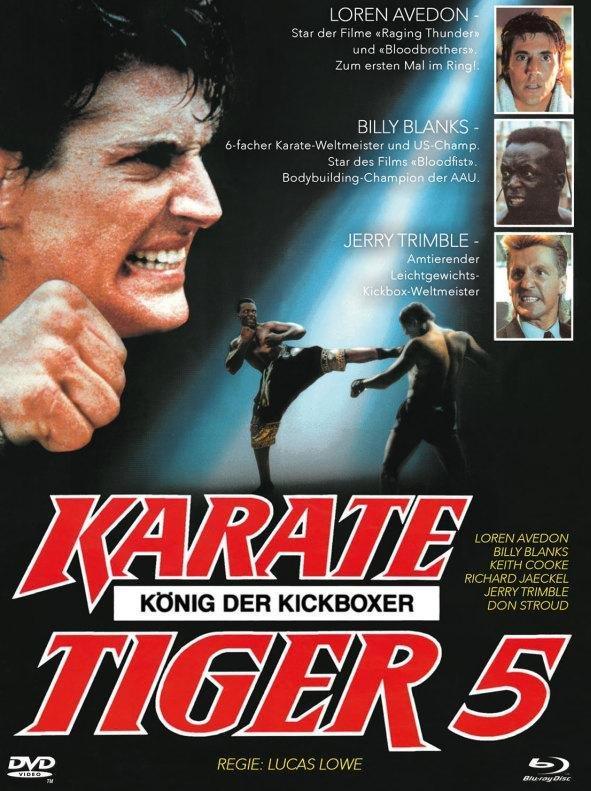 Karate Tiger 5 - König der Kickboxer (1990) (Cover B, Edizione Limitata, Mediabook, Blu-ray + DVD)