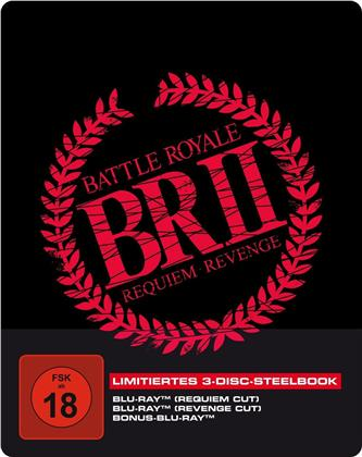 Battle Royale 2 (2003) (Edizione Limitata, Steelbook, 3 Blu-ray)