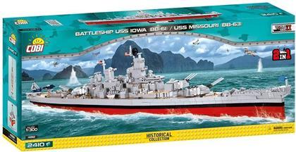 USS Iowa BB-61 (2in1) / 2410 pcs. oder USS Missouri BB-63