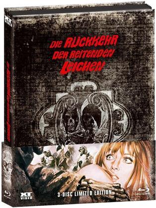 Die Rückkehr der reitenden Leichen (1973) (Wattiert, Edizione Limitata, Mediabook, Uncut, Blu-ray + 2 DVD)