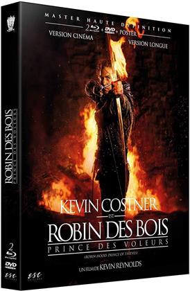 Robin des Bois - Prince des voleurs (1991) (+ Poster, Extended Edition, Versione Cinema, 2 Blu-ray + DVD)