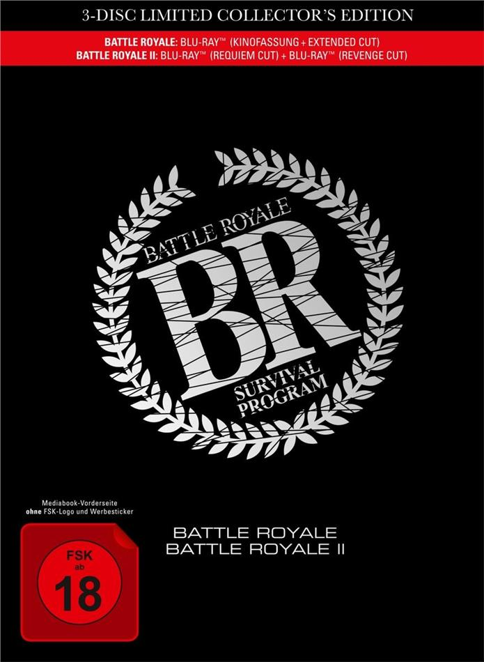 Battle Royale 1 & 2 (Extended Edition, Kinoversion, Limited Collector's Edition, Mediabook, 4 Blu-rays)