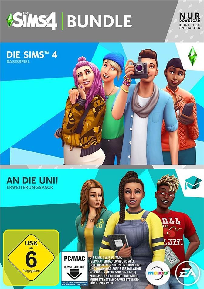 Die Sims 4 (Code in a Box) - An die Universität Bundle (German Edition)