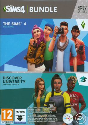 The Sims 4 (Code in a Box) - Discover University Bundle